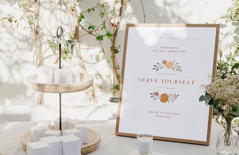 Bruiloft borden
