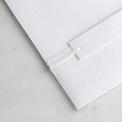 Wit satijnen lint 90 cm