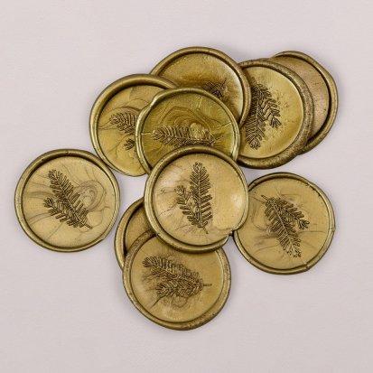 Zelfklevende lakzegel goud 3 cm