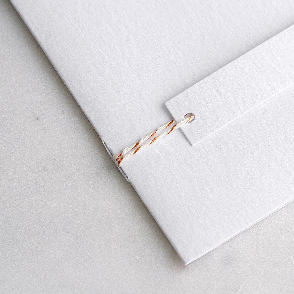 Baker Twine koper & wit 90 cm